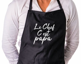 The chef apron is Daddy
