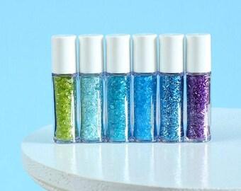 Mini Under the Sea Sprinkles Set, Mini Sparkling Sugar Set, Sparkling Sugar Sampler, Sprinkle Sampler, Under the Sea Party Favors, Mermaid