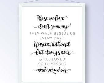 Remembrance Quote, Typography Poster, Weddings, Events