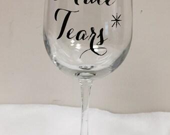 Male Tears Glitter Base Wine Glass