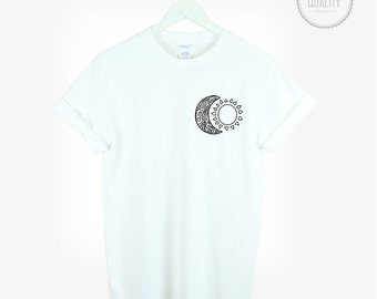 BOHO SUN MOON t-shirt shirt tee unisex mens womens hipster boho kitsch fatima tumblr pinterest instagram blogger Zoella 100%cotton*brand new