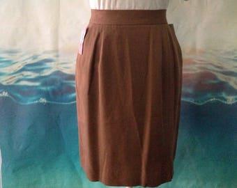 Vintage Dana Bachman Silk Pencil Skirt