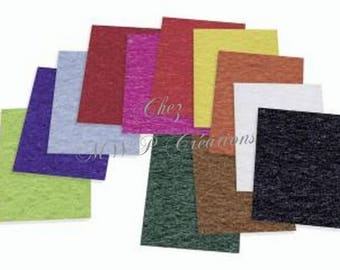 Set of 12 sheets of felt 1 mm
