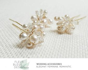 bridal hair accessories | wedding hair pins gold | gold hairpins | pearl hair pins for wedding | gold headpiece wedding | bridal hair piece