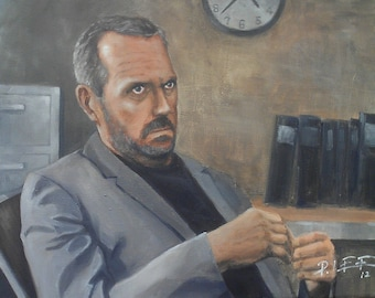 Dr. House - Original Oil Painting