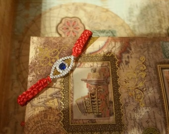 Evil Eye Bracelet, Macrame Bracelet, Knotted Bracelet, Elegant Wrap Bracelet