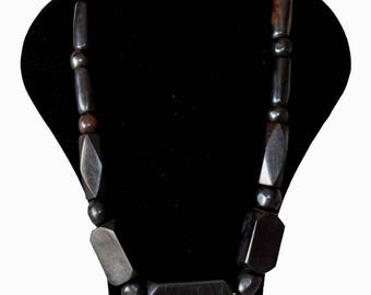 ebony wood Bead Necklace