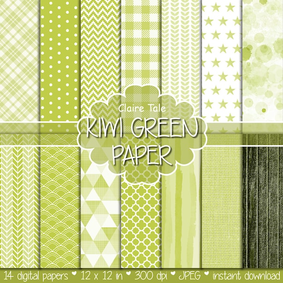Kiwi green digital paper, Kiwi green digital patterns, Kiwi green background, Kiwi green scrapbooking, Kiwi green party invitation paper