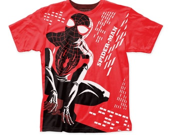 Michael Cho Spider-Man Men's Soft Fitted 30/1 Cotton Tee (SUBCHO09) Cardinal