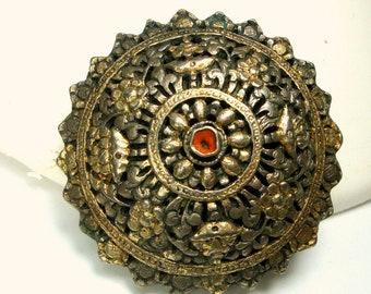 Viking Antique Silver Moroccan Berber Clasp Ornament, or Pendant, Marrakesh Morocco, Purchased 1969