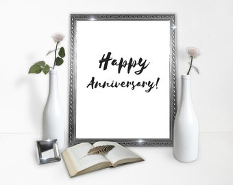 Happy Anniversary - Anniversary Poster Download - love poster - prints- classy poster - gift - decor - home decoration