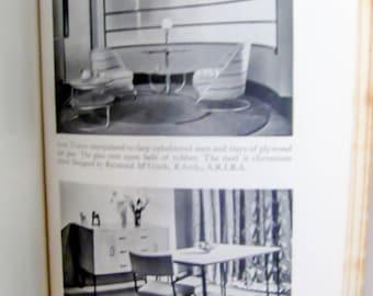 Vintage book on vintage furniture, English furniture book, interior design book, retro furniture book, art deco design