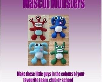 Felt Mascot Monsters - Fun Felt Sewing Pattern - PDF Format