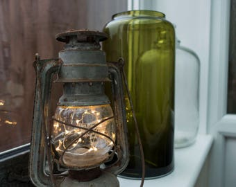 Small Vintage Paraffin Lamp - LED Lantern