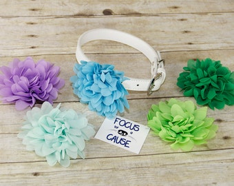 Chiffon Mum Dog Collar Flower Accessory, (Collar not included), Flower, Pet Photographer, Prop, Collar Accessory, Focus for a Cause
