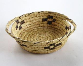 Vintage Indian Basket Woven Pima Papago 1930 Antique American