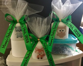 Neutral Baby Shower Favors, Shower Favor, Woodland Animal favors, Candle Favors,  classic themed Favors, Baptism , Holy Communition Favors