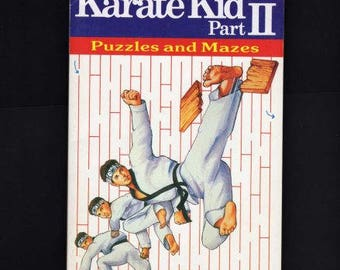 Karate Kid Part II Book, Puzzles Mazes Booklet, Karate Book, 1986, Puzzle Book, Maze Book, Karate Kid,