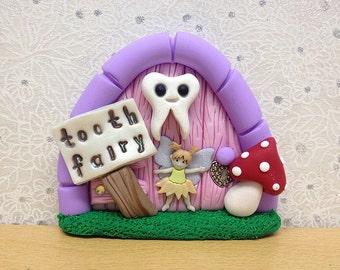 Tooth Fairy Door, Fairy Decoration, Pink Tooth Fairy Door For Girls