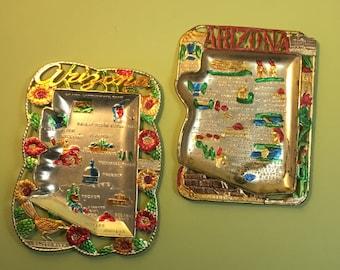 Arizona Souvenir Tin Ashtray - Set of Two (2)