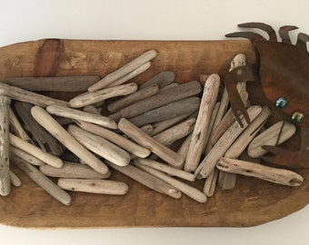"Northern California 50 BULK Driftwood Pieces 3 inches - 6 inches, drift wood, 3""- 6"""