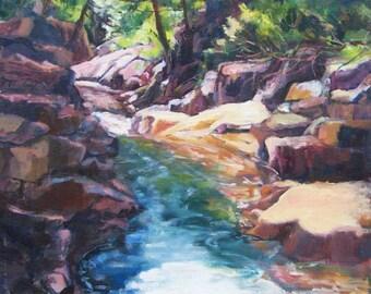 Landscape Painting, North Shore MN, Waterscape