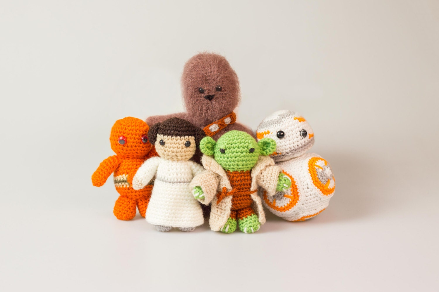 Star Wars Crochet Patterns Free Leia Crochet Star Wars Toys ...