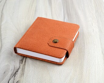 Leather notebook | Small journal | Blank pages notebook | Pocket notebook | Leather book | Address book | Password notebook | Blank book