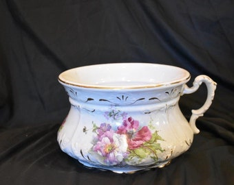 Victorian Floral and Gold Trim Chamberpot