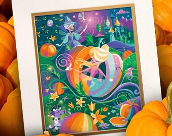 Pumpkin Carriage Print