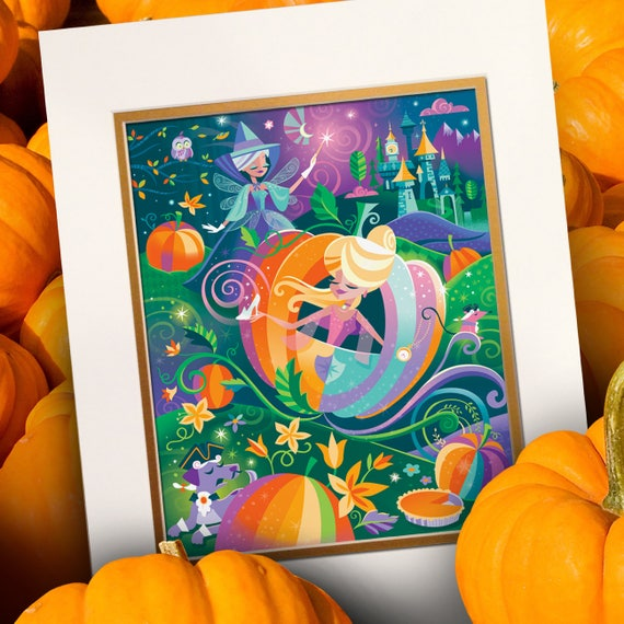 Pumpkin Carriage Cinderella Fairy Godmother Spireside
