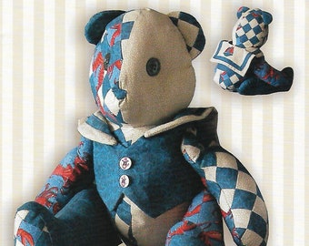 Sailor Bear craft sewing pattern , 16 inch stuffed bear pattern, Becky and Me
