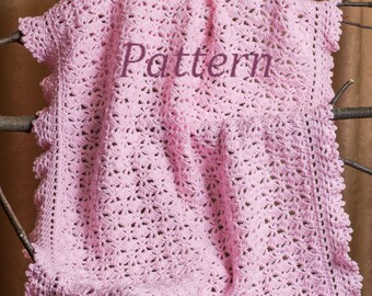 Tutorial Crochet Baby Blanket Pattern, Crochet Stroller Pattern, Crochet Baby Afghan, Travel, Newborn Blanket, Instant Download /4022/