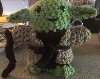 "Star Wars inspired ""Yoda"" Amigurumi"