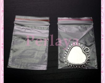 Set of 300 bags zip 4x6cm REF2696