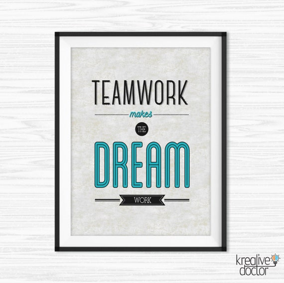 Office Teamwork Quotes Wall Art Printable Success Quotes