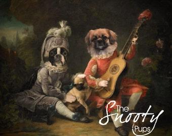 PET PORTRAIT - Custom Dog Portrait, Custom Cat Portrait - Victorian