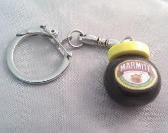 Marmite Inspired Keyring Handmade.