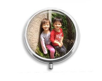Custom Photo / Image / Text Pill Box, Pill Case, Pill Container, Mints Case, Trinkets Box, Jewelry Box (PC001)