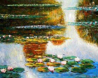 Claude Monet-Water lilies in light i94991 80 x 110 cm exquisite image