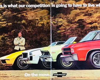 Two page 1970 Chevrolet new car lineup