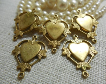 Brass Heart Connector Link Stamping