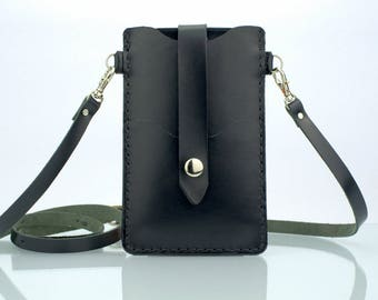iPhone se Case Leather iPhone 5s Case Crossbody Bag iPhone 5s Pouch Italian Leather iPhone 5 Wallet iPhone se Bag Leather iPhone se Wallet