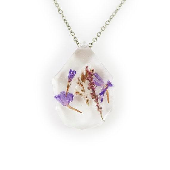 Botanical Flower Eco Resin Necklace