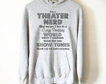 There Will Be Drama Hoodie - Theater hoodie- Theatre gift - Broadway shirt - Actor shirt - Drama shirt - Actress shirt zr5Pm4rScq