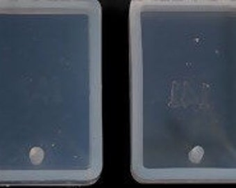 1 Silicone Resin Mold Rectangle White 34mm - MOLD02