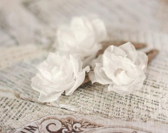 71 weiße Blumen Haarnadeln blumenhaarstift Haar-Accessoires