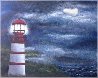 "Original artwork painting ""Night Light"""
