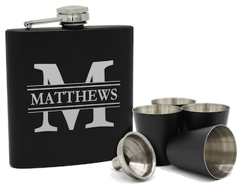 Personalized Groomsmen Flask, Personalized Leather Flask, Gifts for Groomsmen, Personalized Flask for Men, Engraved Flask, Groomsman Flask