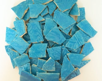 Turquoise MOSAIC Tiles - 1 Square Foot High Fired